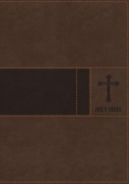 NIV Gift Bible--imitation leather, brown (indexed)