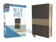 NIV Thinline Bible Compact Brown and Tan, Imitation Leather