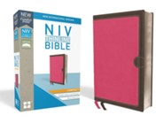 NIV Thinline Bible Compact Pink and Brown, Imitation Leather