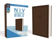 NIV Value Thinline Bible Brown, Imitation Leather