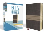 NIV Thinline Bible Giant Print Brown and Tan, Imitation Leather