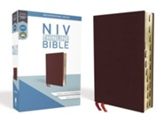 NIV Thinline Bible Burgundy, Bonded Leather, Indexed