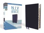 NIV Thinline Bible Navy, Bonded Leather, Indexed