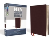 Bonded Leather Burgundy Large Print