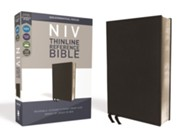 NIV Comfort Print Thinline Reference Bible, Premium Bonded Leather, Black
