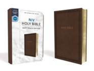 NIV Comfort Print Holy Bible, Soft Touch Edition, Imitation Leather, Brown