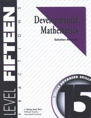 Developmental Math, Level 15, Solution Manual