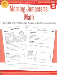 Morning Jumpstarts, Math Grade 5: 100 Independent Practice Pages to Build Essential Skills