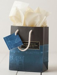 Noble Blueprint Gift Bag, Small