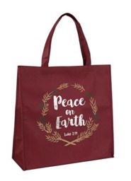 Peace on Earth, Luke 2:14, Tote Bag