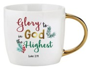 Glory to God in the Highest, Luke 2:14, Mug