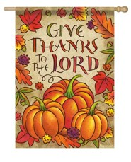 Give Thanks To the Lord Flag, Pumpkins, Large
