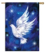 Christmas Dove, Large Flag
