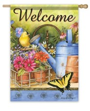 Welcome, Planting Time Flag, Large
