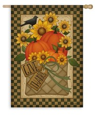 Give Thanks Basket Flag, Large