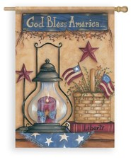 God Bless America, American Still Life, Flag, Large