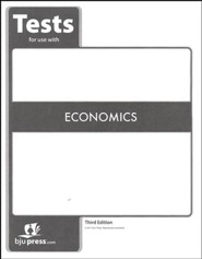 BJU Press Economics Grade 12 Tests (3rd Edition)
