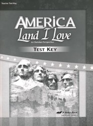 Abeka America: Land I Love Tests Key (Updated Edition)