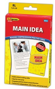 Main Idea Reading Comprehension Practice Cards, Yellow Level