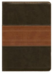 Imitation Leather Green / Tan Book Black Letter