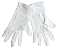 Gloves, White, Large