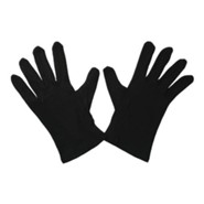 Gloves, Plain Black, Medium
