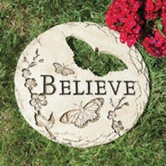 Believe Stepping Stone with Butterfly