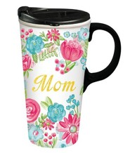 Mom, Ceramic Travel Mug