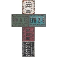 License Plate Wall Cross