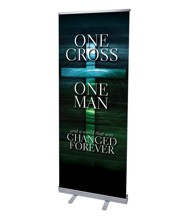One Cross (31 inch x 79 inch) RollUp Banner
