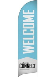 Place to Connect Welcome Flag Banner