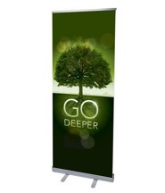 Go Deeper Roots (31 inch x 79 inch) RollUp Banner