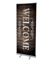 Rustic Charm Welcome (31 inch x 79 inch) RollUp Banner
