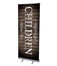 Rustic Charm Children (31 inch x 79 inch) RollUp Banner