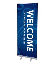 Flourish Welcome (31 inch x 79 inch) RollUp Banner