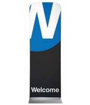 Metro Welcome 2' x 6' Fabric Sleeve Banner