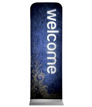 Adornment Welcome 2' x 6' Fabric Sleeve Banner