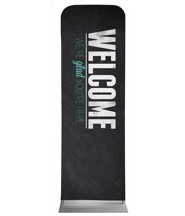Slate Welcome 2' x 6' Fabric Sleeve Banner