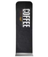 Slate Coffee 2' x 6' Fabric Sleeve Banner