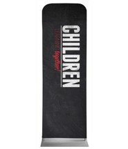 Slate Children 2' x 6' Fabric Sleeve Banner