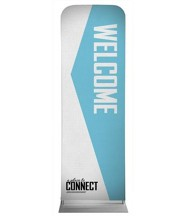 Place to Connect Welcome 2' x 6' Fabric Sleeve Banner