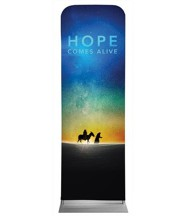 Hope Comes Alive 2' x 6' Fabric Sleeve Banner