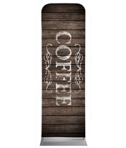Rustic Charm Coffee 2' x 6' Fabric Sleeve Banner