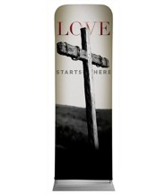 Love Starts Here 2' x 6' Fabric Sleeve Banner
