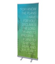 Color Wash Jer 29:11 (31 inch x 79 inch) RollUp Banner