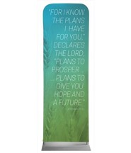Color Wash Jer 29:11 2' x 6' Fabric Sleeve Banner