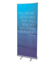 Color Wash Matt 4:19 (31 inch x 79 inch) RollUp Banner