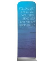 Color Wash Matt 4:19 2' x 6' Fabric Sleeve Banner