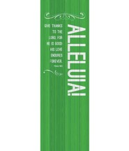 Painted Wood Alleluia (2' x 6') Vinyl Banner