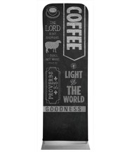 Chalkboard Art Coffee 2' x 6' Fabric Sleeve Banner
